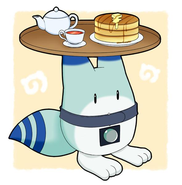 かばんちゃんが作ったホットケーキを運ぶボス