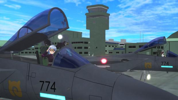 【MMDモデル配布】ジャパリパーク所属F-15Japari