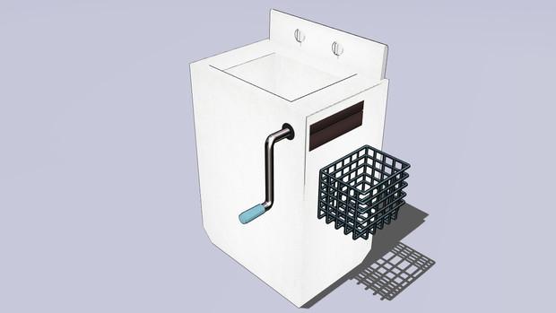 手回し脱水洗濯機