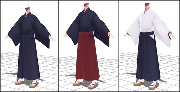 【衣装配布】袴お着替えセットver2.0(PSD配布)