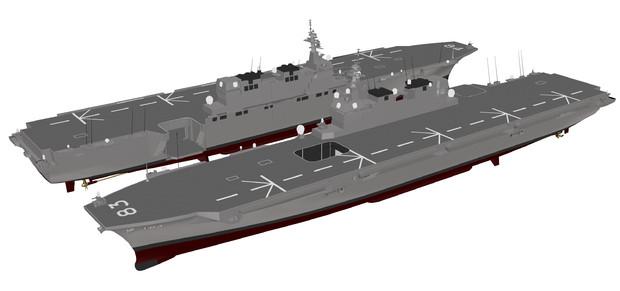 【モデル配布】いずも型護衛艦 2017