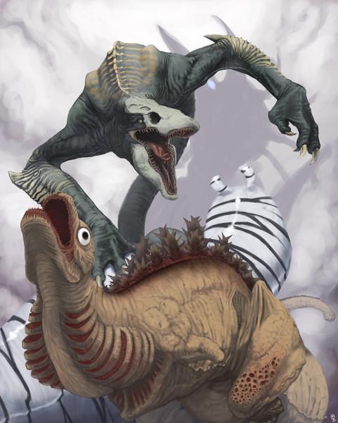 怪獣三竦み