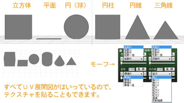 ただの図形&布&剛体&スカイドーム【MMDアクセサリ配布】