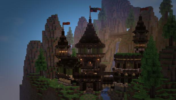 【Minecraft】小さなお城?
