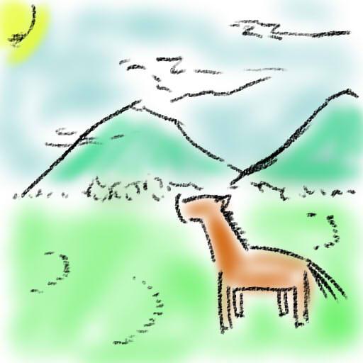 モンゴルの風景らしい