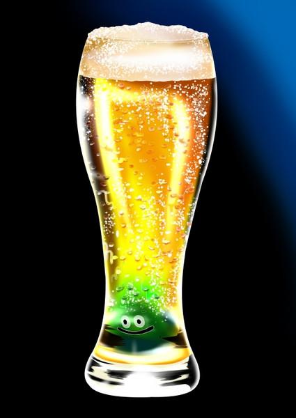 生ビールお持ちしました~。