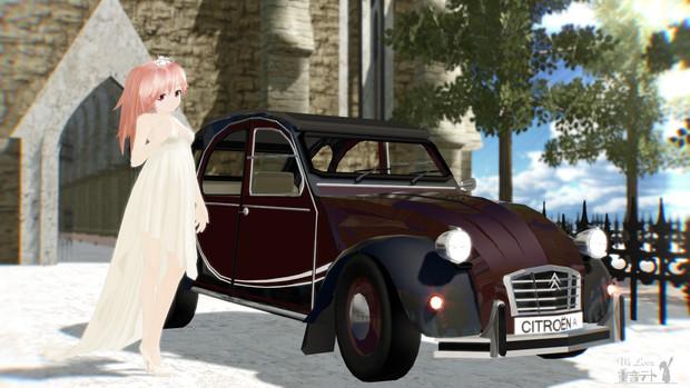 この車には婚礼衣装がお似合いですねw