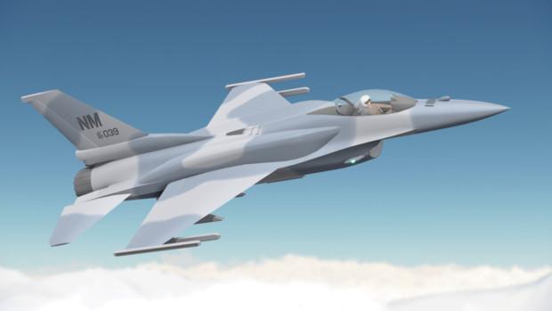 【配布】F-16E (Block60)【MMDモデル】