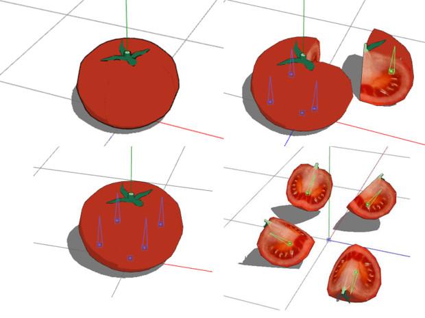 【MMDアクセサリ配布あり】トマト(切り)【一般配布】