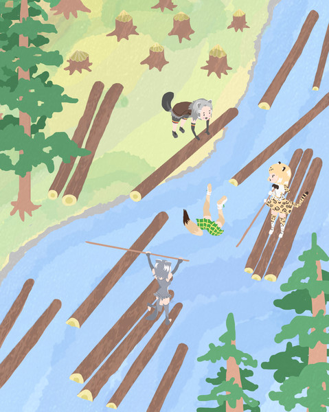 木材を無償提供するフレンズ