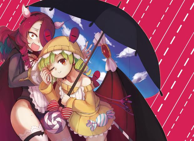 コウモリ(と)傘