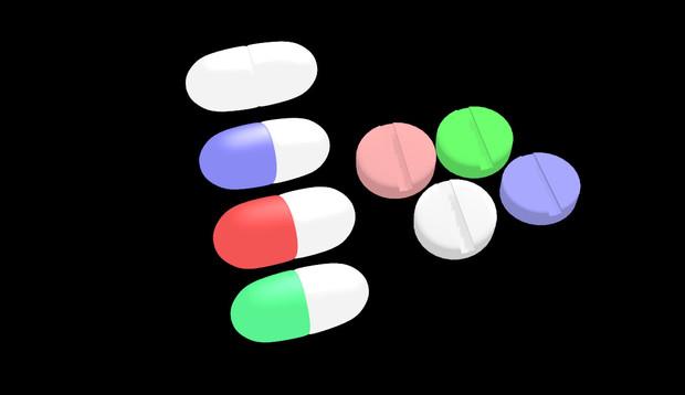 【MMDアクセサリ配布】薬カプセルと錠剤