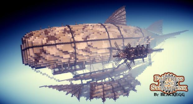 【Minecraft】=Steampunk Airship= CACHALOT