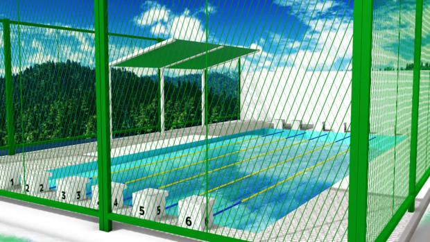 【MMDステージ配布】学校のプール