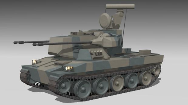 【更新】87式自走高射機関砲V5.0【MMDモデル】