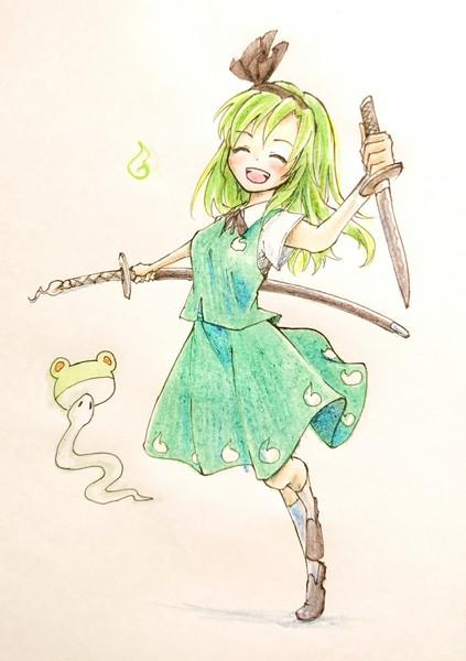 早苗(妖夢衣装)