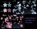 【MME配布】蒼荷葉、桜荷葉【立体パーティクル】