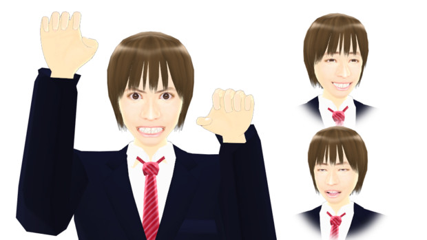 【MMDモデル配布】表情モーフ搭載エキストラ:WEP式HyperE介