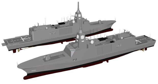【モデル配布】3900トン型将来護衛艦(30FFM)