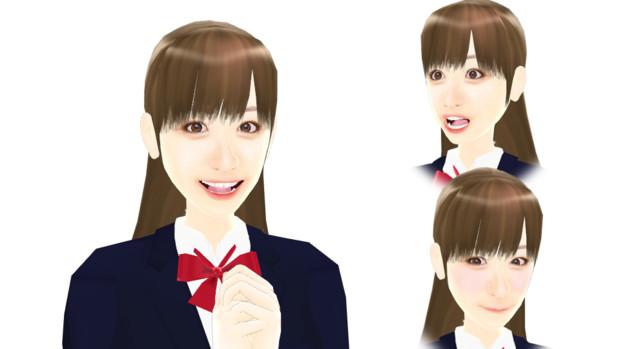 【MMDモデル配布】表情モーフ搭載エキストラ:WEP式HyperH子