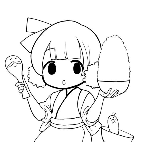しろごはんちゃん(ゆるキャラ化)