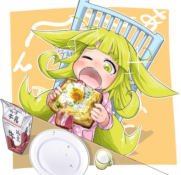子狐「これが人里で有名なラピュタパン…さて味はいかほどか…♪」