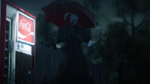 雨の中の追跡者