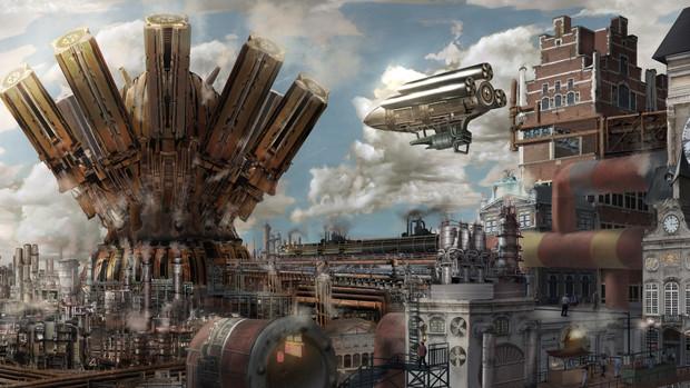 スチームパンク都市昼景 電脳人形工房 さんのイラスト ニコニコ