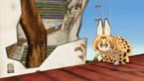 【GIFアニメ】サーバルジャンプ!【MMDけもフレ】