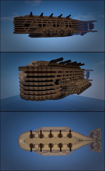 【Minecraft】戦闘飛行船