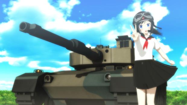 【MMDオリキャラ】JKと主力戦車