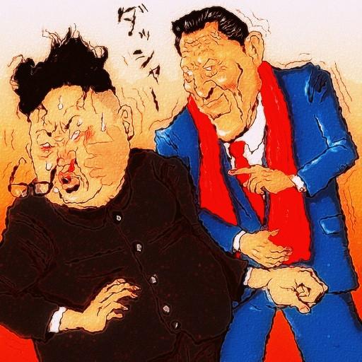 キム委員長vsアントニオ猪木議員 木住野武 さんのイラスト ニコニコ