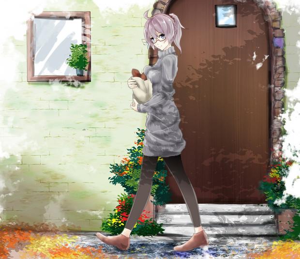 青葉の秋の休日