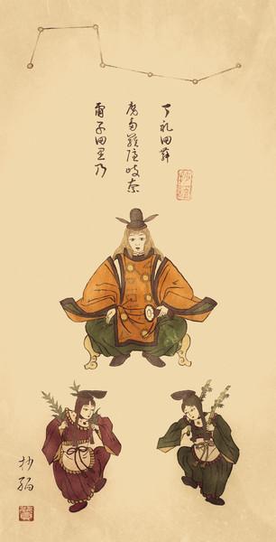 幻想郷摩多羅神二童子図