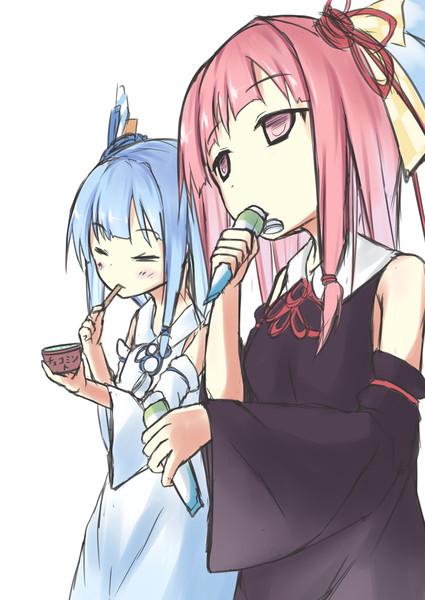 チョコミントを食べる琴葉姉妹