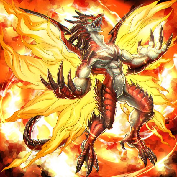 炎の翼のレッドドラゴン