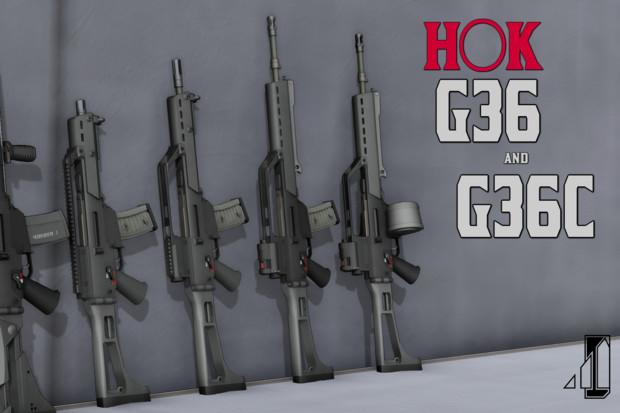 【提供中】H○K G36/G36C【MMDモデルデータ】