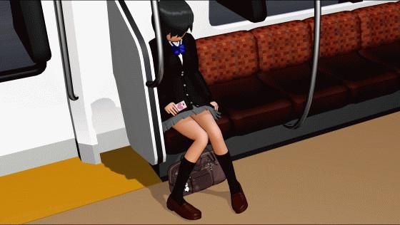 【MMD】女の子の日常モーション(居眠り編)