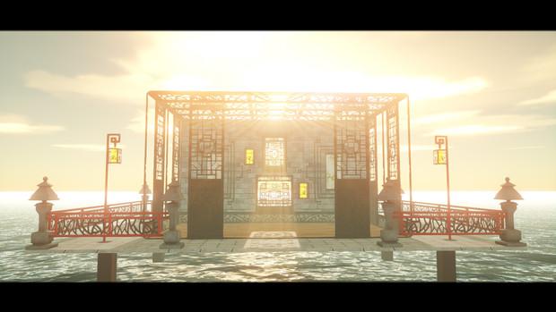 【MMDステージ配布】江には風の夢竹の昔ver1.0