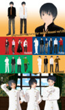 MMDオリキャラ 七海 v1.00+映月/結人/李雨 ver1.10【モデル配布・更新】