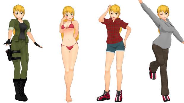 リサ(オリキャラ)Ver4_199【MMDモデル配布あり】