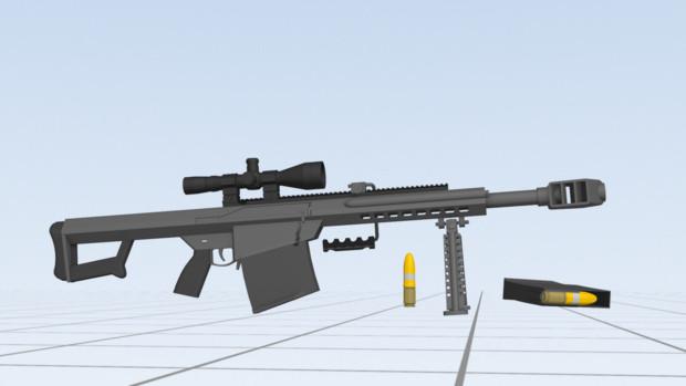 【配布】XM109  25mm対物ライフル【MMDモデル】