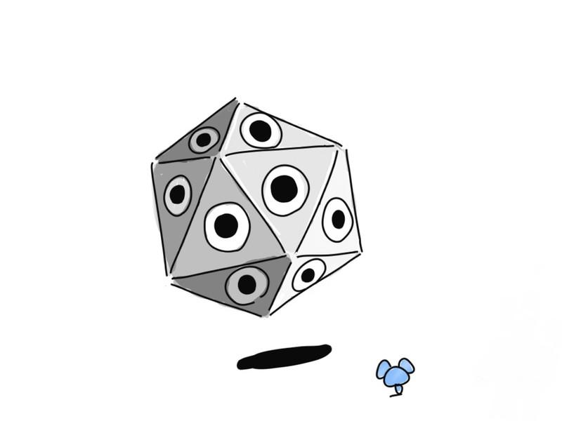 未知の正二十面体型セルリアンとの遭遇