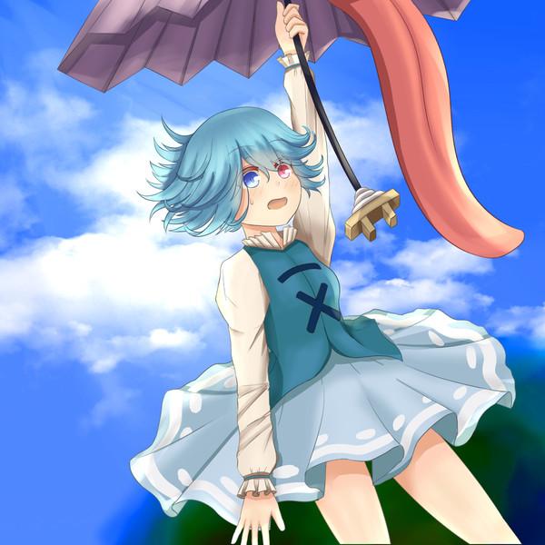 空から女の子が…!