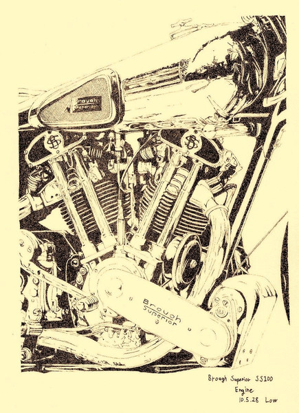 Brough Superior SS100 エンジン部分