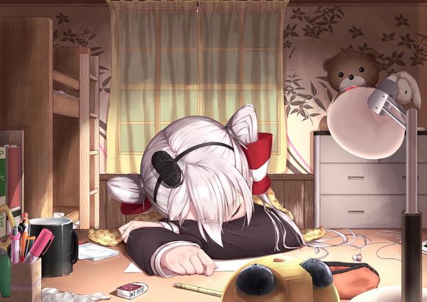 寝落ち天津風 ぜつりーぬ さんのイラスト ニコニコ静画 イラスト