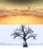 砂の惑星風ステージセット