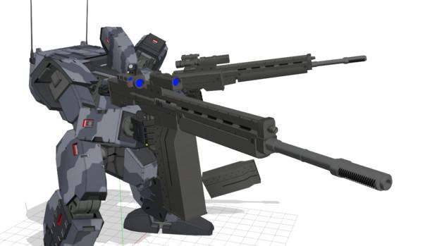新装備:70mmバトルライフル