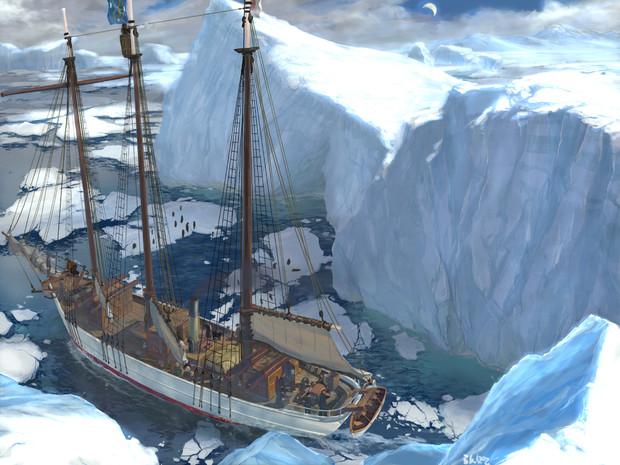 南極の開南丸