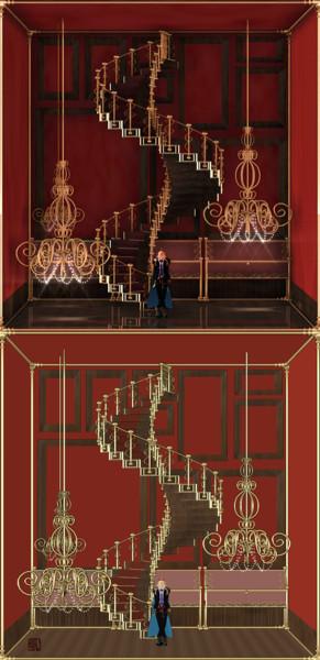 螺旋階段のある展示室